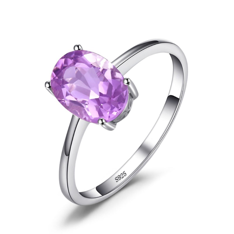 Oval 1.1ct Natural Purple Amethyst February Birthstone Ring