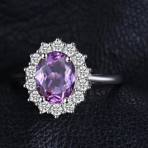 2.3ct Oval Natural Amethyst February Birthstone Ring