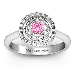 Exquisite 360 Birthstone Ring
