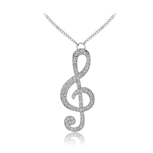 Music Note Necklace (Silver Or Gold)