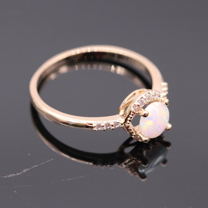 opal products fashion champagne bye gold october birthstone ring rings