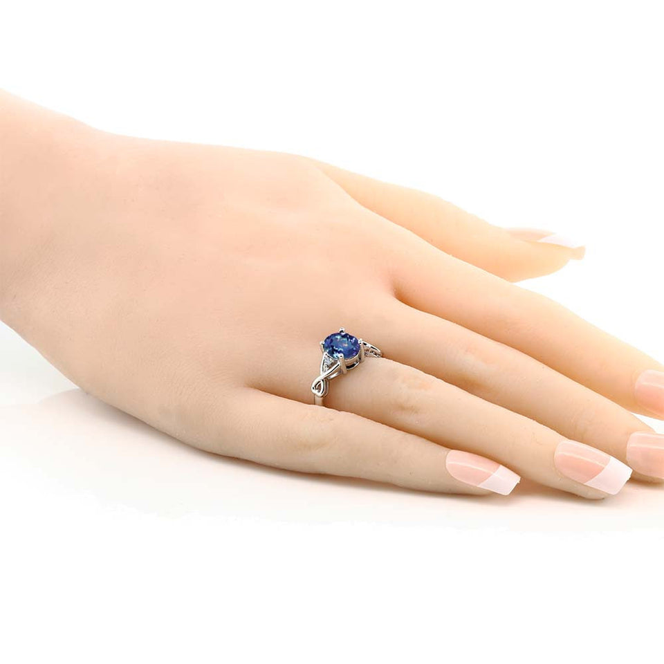 September GemStone 1.85 Ct Oval Millennium Sapphire Ring