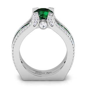 Interchangeable (May) Emerald Birthstone Ring