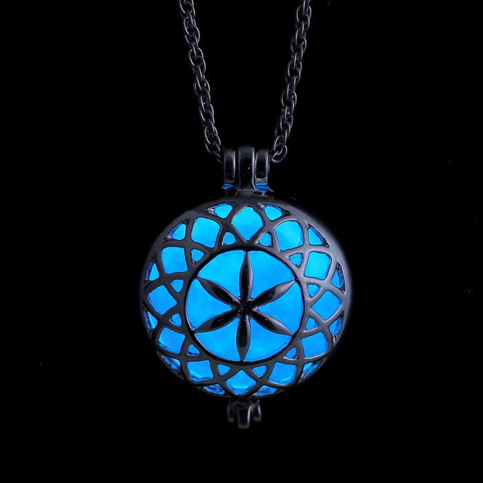 Magical Aqua Glow The Dark Necklace Locket