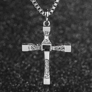 Toretto Silver Cross Necklace 22""