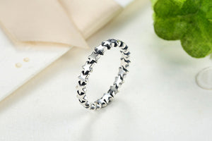 Decadent Star/Heart Pure 925 Sterling Silver Ring