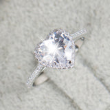 Scalloped Pavé Diamond Engagement Ring