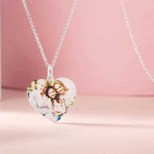 Heart Shape Personalized Photo-Necklace