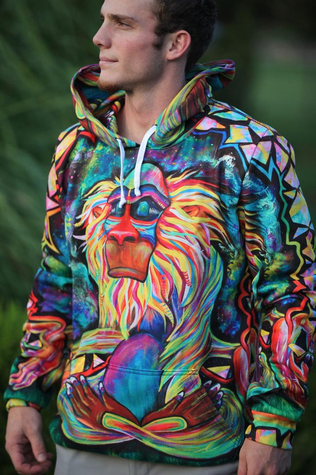 Meditating Baboon Unisex Hoodie (Limited Edition)