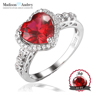 Ruby 2.7ct July Birthstone Halo Ring