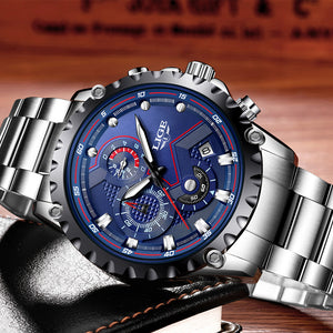 LIGE䋢 - Flawless Luxury Stainless Steel Watch - Limited Edition