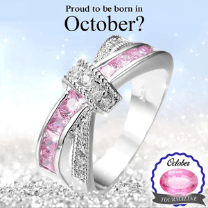 October Birthstone Tourmaline Ribbon Ring