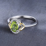 1.3ct Natural Gemstone August Peridot Birthstone Ring