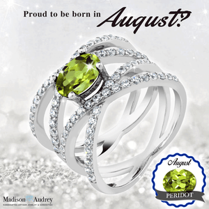 Flawless Natural August 2.26Ct Birthstone Peridot Ring