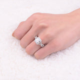 S925 Sterling Silver 5CT Avant Infinity of Love Ring + Free Gift Box (April Diamond)