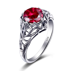 Vintage July Ruby Birthstone Ring