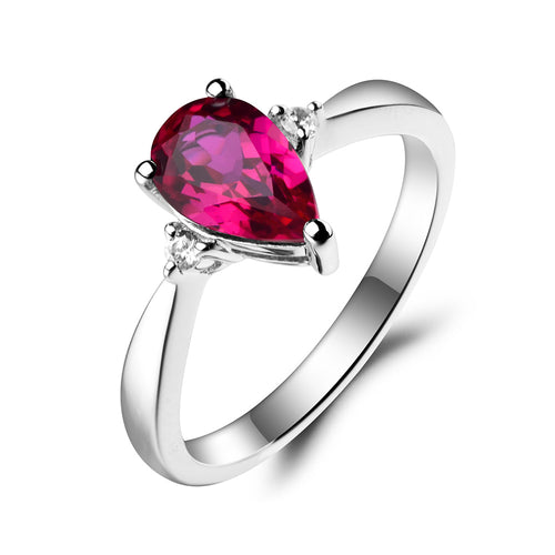 1.55ct Ruby Red Gemstone July Birthstone Ring + Free Engraving