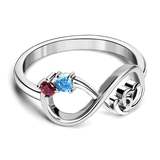 Infinity Love Eternity birthstone Ring