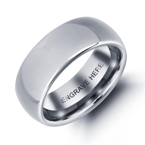 Mens Classic Tungsten Ring with Complimentary Engraving