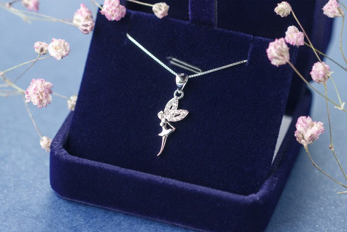 The Dancing Fairy Pendant Real. 925 Sterling Silver