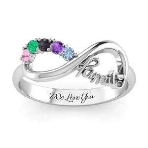 The Love of Family Infinity Ring