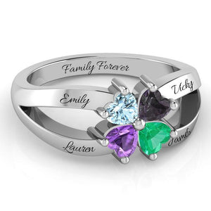 The 4 Clover Of Love Ring