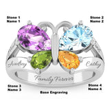 4 Birthstone Butterfly of Life Ring