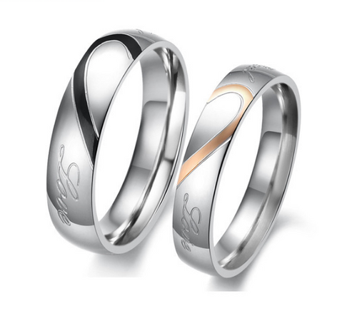 Share My Heart Personalized Couple Rings