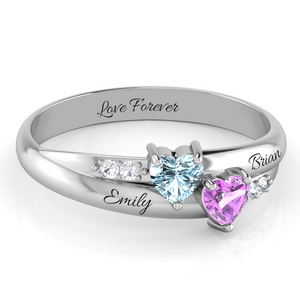 Custom DIY Birthstone Ring 925 Sterling Silver + Free Gift Box