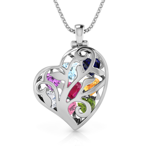 Exquisite Family Tree Birthstone Vine Necklace (Up to x8 Birthstones)