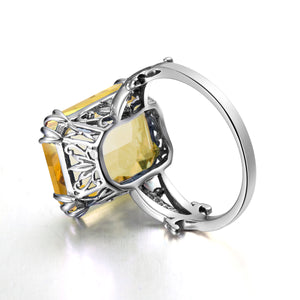 Vintage Citrine November Birthstone Ring
