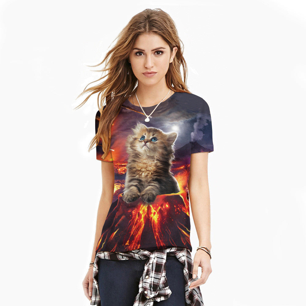Limited Edition: Volcanic Cat Eruption T-Shirt!