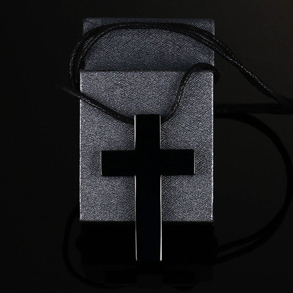 Titanium Steel Leather Cord Cross