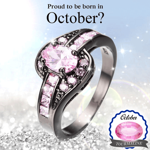 October Birthstone Tourmaline Oval Ring