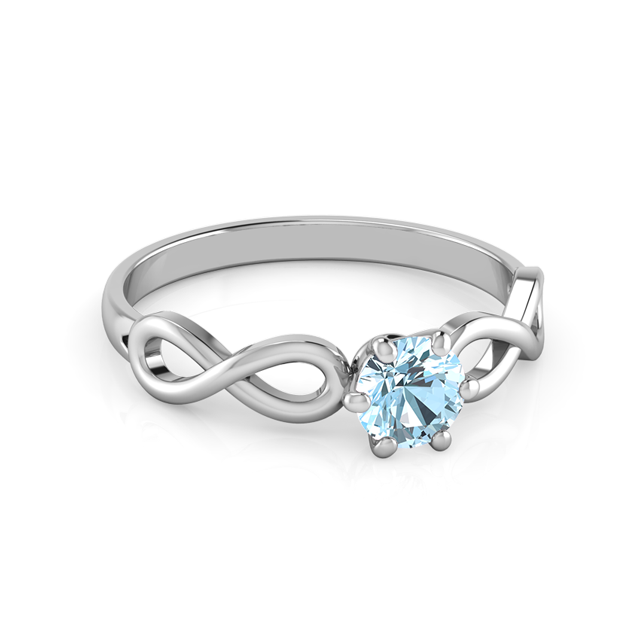 Infinity Band Customizable Birthstone Ring