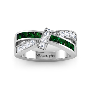 Limited Edition May Emerald Gold Filled Ring