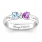 Two Hearts Destiny Gemstone Ring