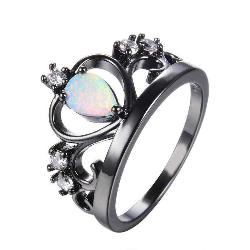 october opal natural birthstone ring opals rings guaranteed australian gemstone product