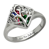 *Limited Edition* The Family Tree Cage Ring ( Up to 8+Birthstones)