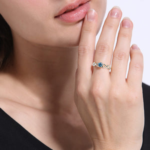 Exquisite Double Infinity Birthstone Ring