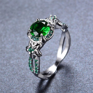 Emerald Ring Silver (May Birthstone)