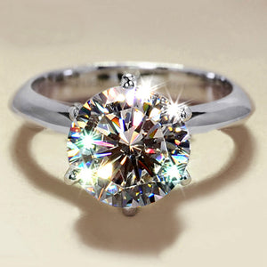 Handcrafted 925 Sterling Silver Diamond Ring
