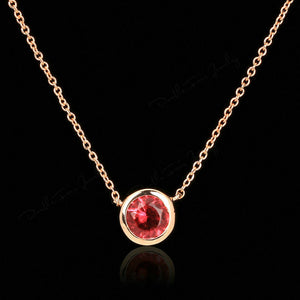18K Rose Gold Plated Gemstone Necklace
