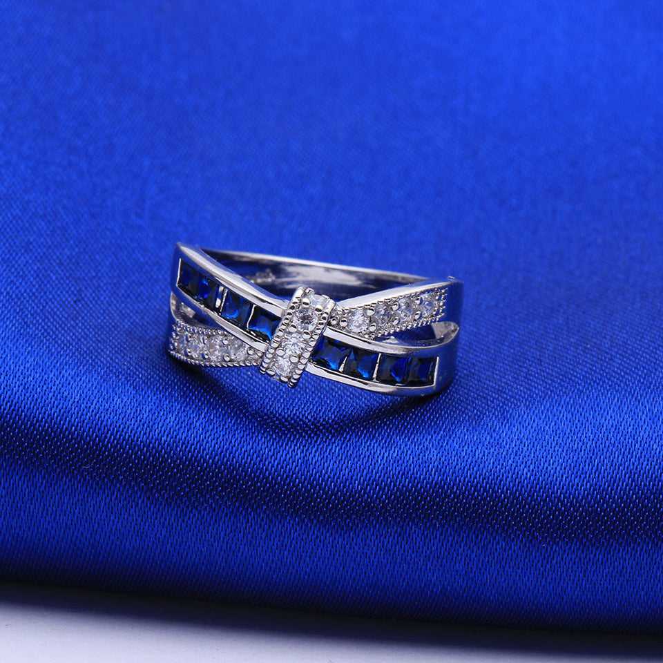 September (Sapphire) Ribbon Ring - Limited Edition