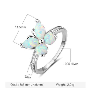 Flying Butterfly Opal Ring