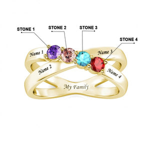 Family of Four Birthstone Ring