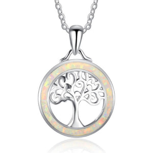 Tree Of Life Pendant - Opal Halo