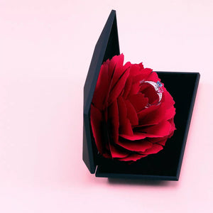 Unique Red Rose Ring Box