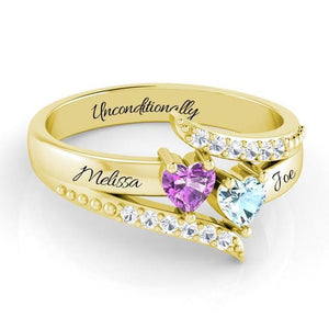 Exquisite Dream Ring With Heart Stones