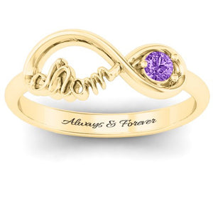 Infinity Bond Mom Ring + Free Engraving